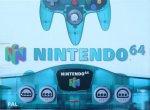 Nintendo 64 - Nintendo 64 Clear Blue Console Boxed