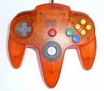 Nintendo 64 - Nintendo 64 Clear Orange Controller Loose