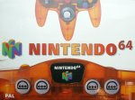 Nintendo 64 - Nintendo 64 Clear Orange Console Boxed