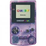 Nintendo Gameboy Colour - Nintendo Gameboy Colour Console Clear Purple Loose