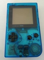 Nintendo Gameboy Pocket Clear Blue Console Loose
