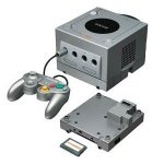 Nintendo Gamecube - Nintendo Gamecube Modified Silver Console and Gameboy Player Loose