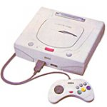 Sega Saturn Modified Japanese White Switchless Console Loose