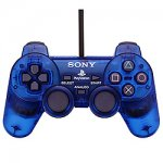Sony Playstation Dual Shock Controller Clear Blue Loose