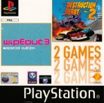 Sony Playstation - Destruction Derby 2 and Wipeout 3