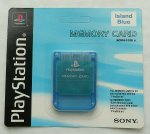 Sony Playstation - Sony Playstation Memory Card Island Blue Boxed