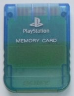 Sony Playstation - Sony Playstation Memory Card Clear Blue Loose