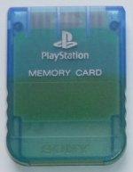 Sony Playstation - Sony Playstation Memory Card Clear Blue Loose