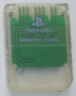 Sony Playstation - Sony Playstation Memory Card Clear Loose
