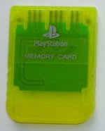 Sony Playstation - Sony Playstation Memory Card Clear Yellow Loose