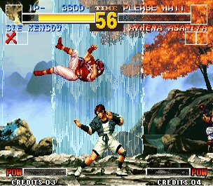 King of Fighters 95 in Modified 60Hz Display