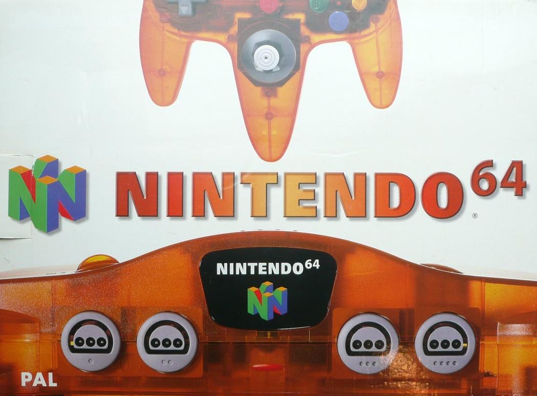 Buy Nintendo 64 Nintendo 64 Clear Orange Console Boxed For